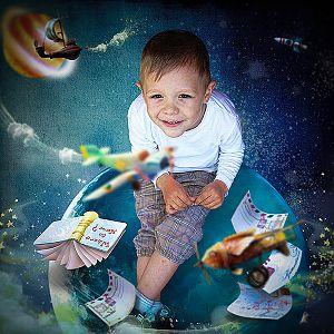 Little boy planet