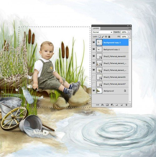 Photoshop látható rétegek másolása