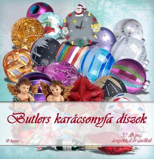 Butlers karácsonyfa díszek