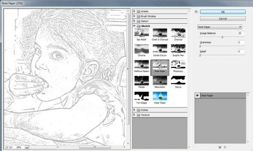Photoshop Note Paper