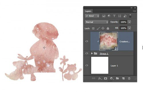 Photoshop CS6 multiple layers