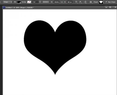 Photoshop CS6 shape