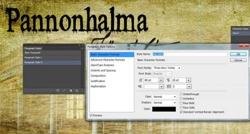 Photoshop CS6 Paragraph Style