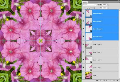 Photoshop Kaleidoszkóp