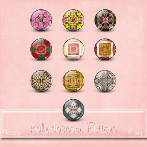Kaleidoscope Buttons freebie