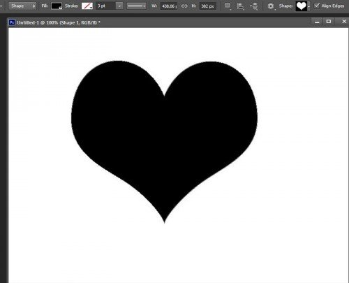 Photoshop CS6 shape