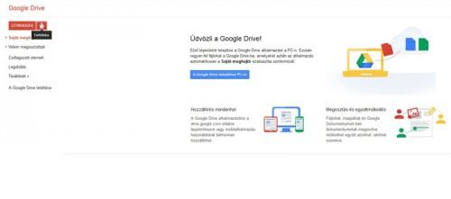 Google Drive feltöltés