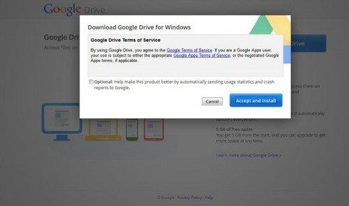 Google Drive telepítés