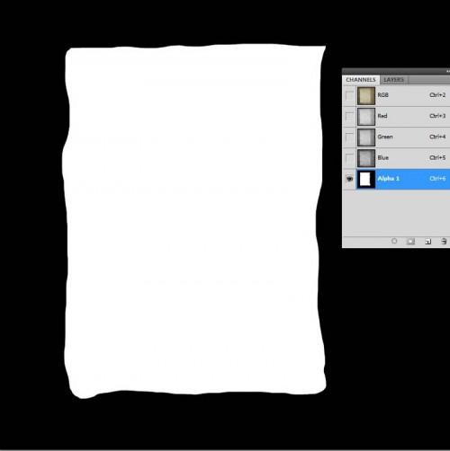 Photoshop papír égetés