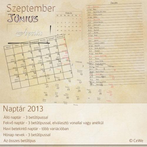 CeWe naptár 2013
