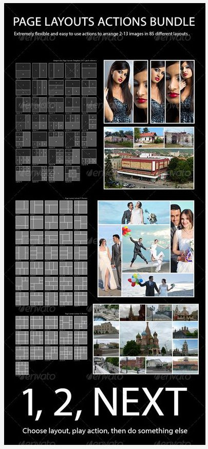 Photoshop storyboard actions