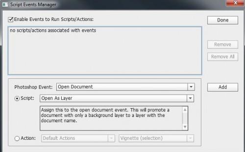 Photoshop Script Enent Manager