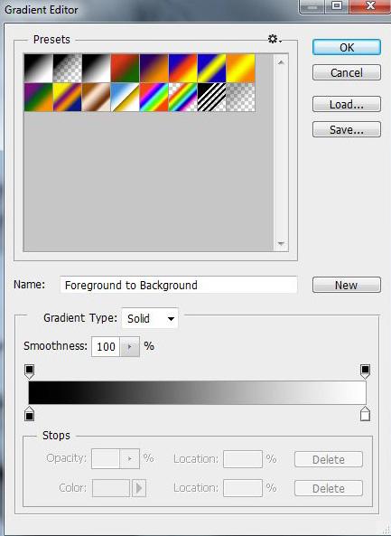 Photoshop gradient szerkesztő