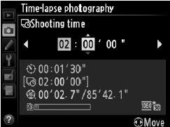 time-lapse beállítás