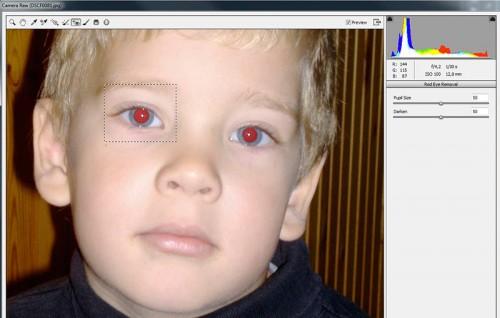 vörös szem kijelölés