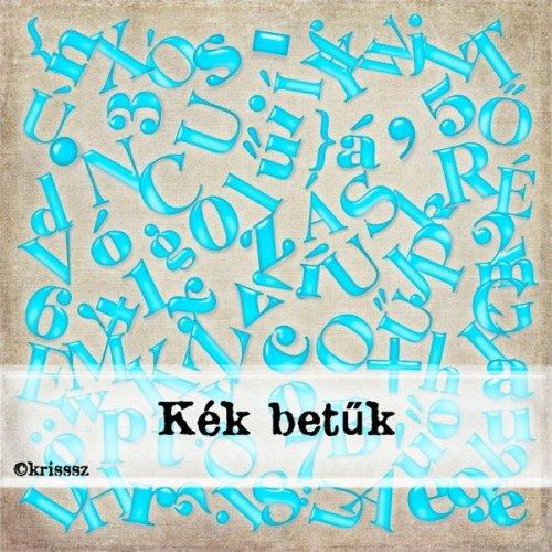 Kék betűk