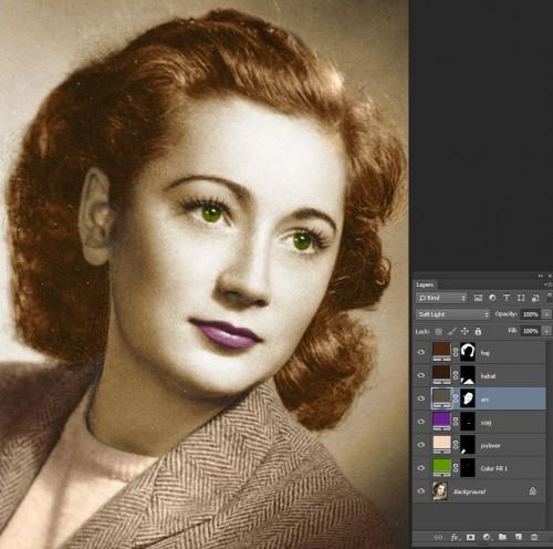 Photosop színezés
