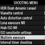 Multiple exposures