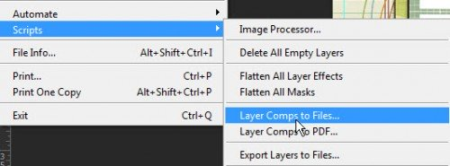 Layer Comps to file