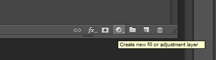 Create new fill or adjusment layer