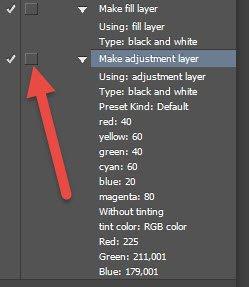 Insert adjustment layer