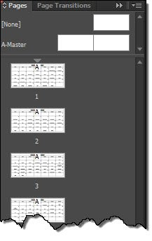 inDesign Page panel