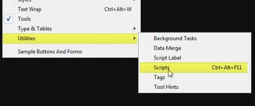 inDesign scripts