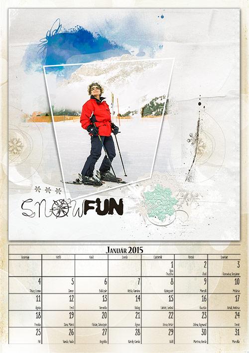 scrap naptár