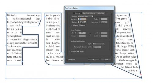 Text Frame Option