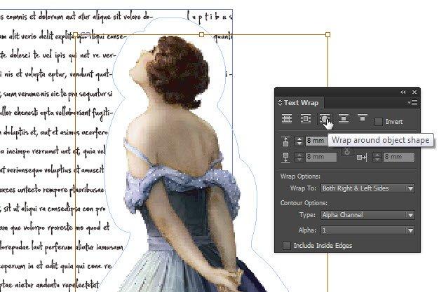 inDesign – text wrap