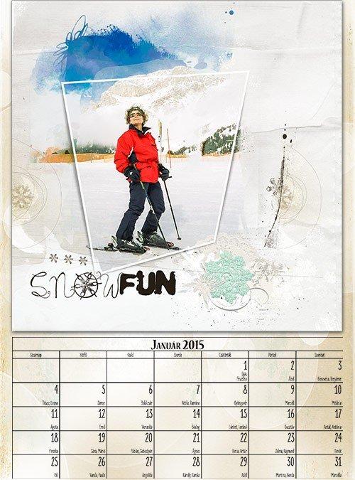 inDesign naptár