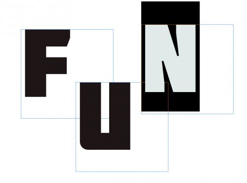 inDesign betűk