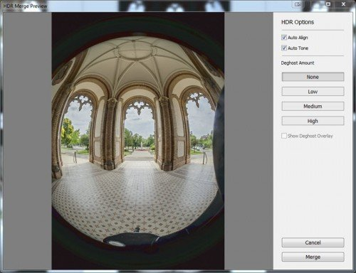 HDR preview