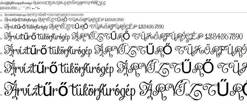 Windows betűtípus-megjelenítő