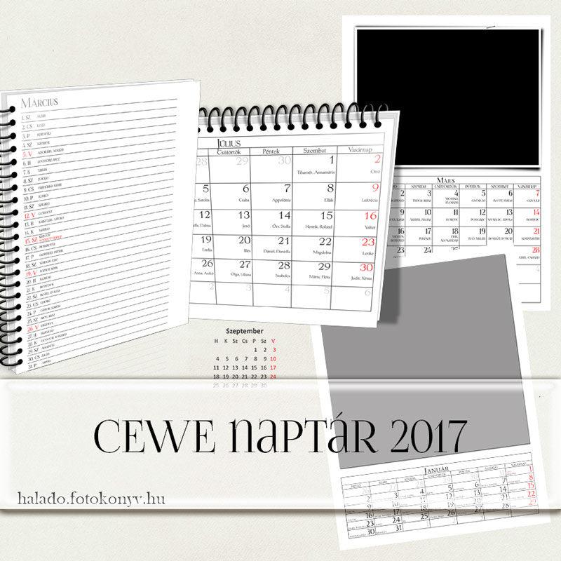 CEWE naptár 2017