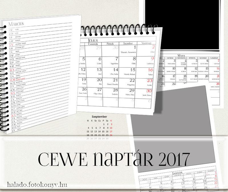 CEWE naptár 2017.