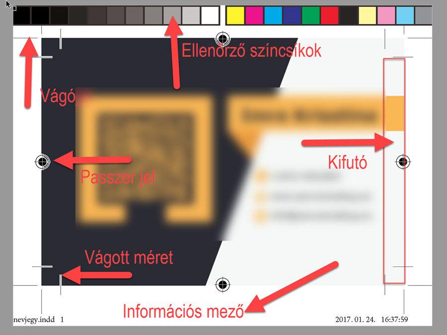 Névjegykártya és más nyomdai termék szerkesztése