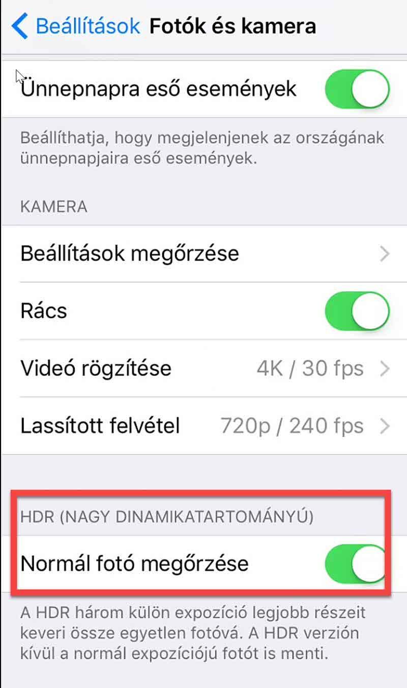 HDR fotózás mobilon