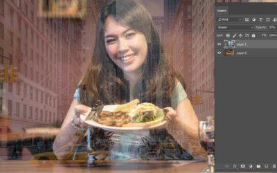 Kirakat tükröződés Photoshop-ban