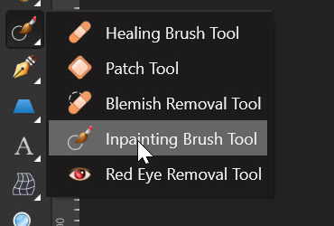 Affinity Photo – Inpainting Tool