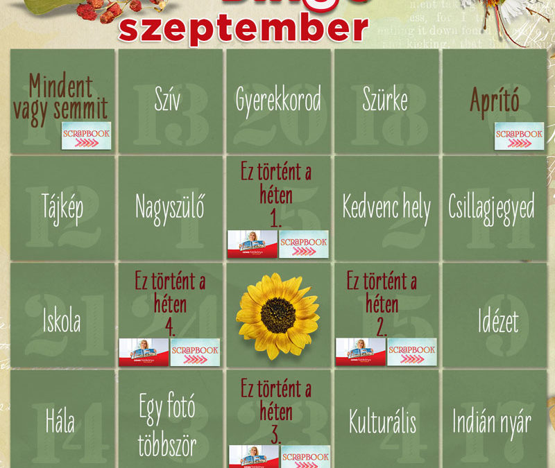 CEWE-Bingó – szeptember