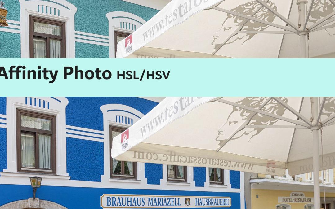 Affinity Photo HSL/HSV korrekciós réteg