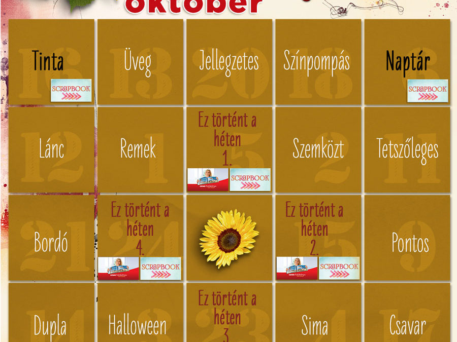 CEWE-Bingó – 2020. október