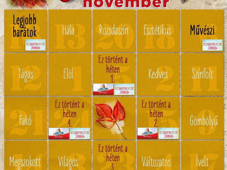 CEWE-Bingó – 2020. november