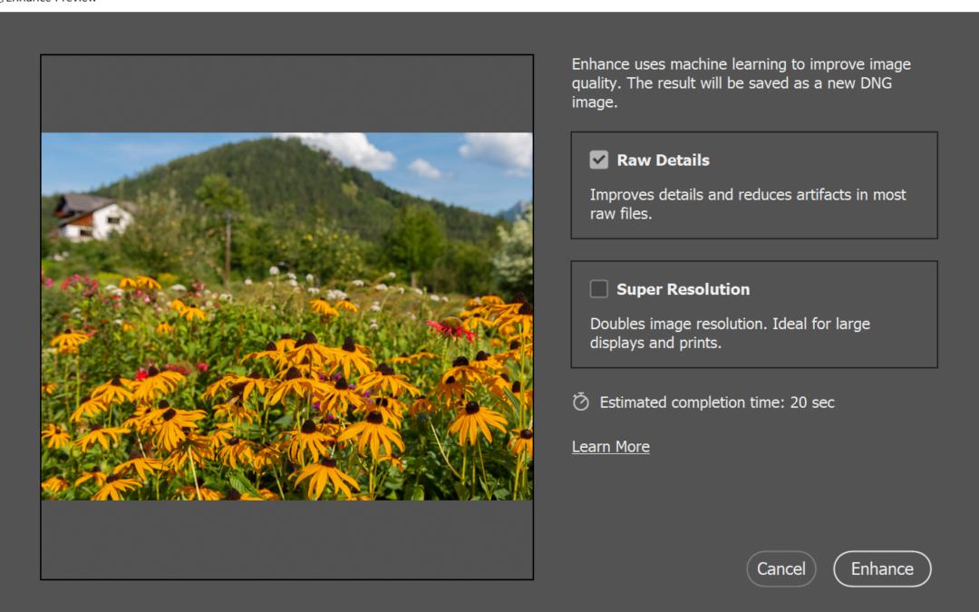 Adobe Camera Raw márciusi frissítés